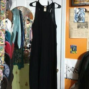Black racer-back maxi dress